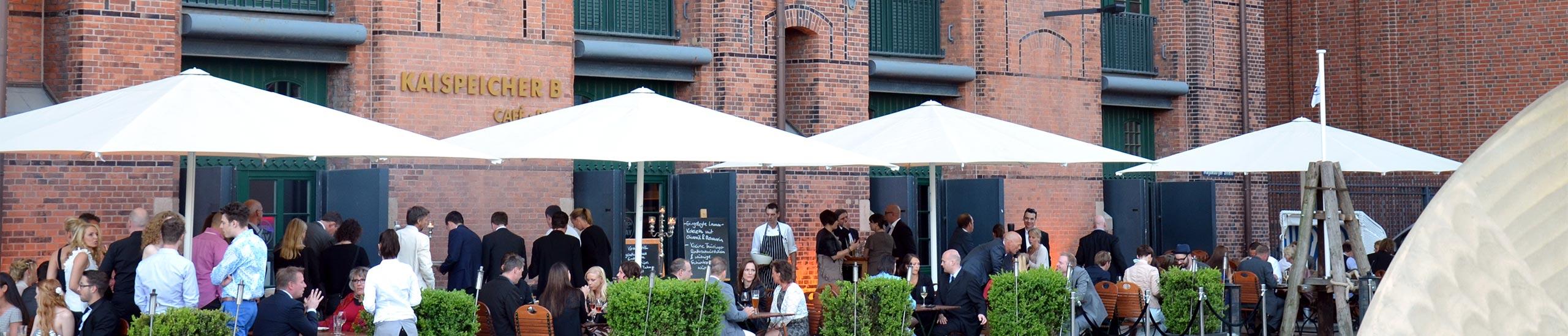 Firmenfeier bei Kaispeicher B auf der Terrasse